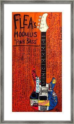Flea Modulus Punk Bass Framed Print by Karl Haglund
