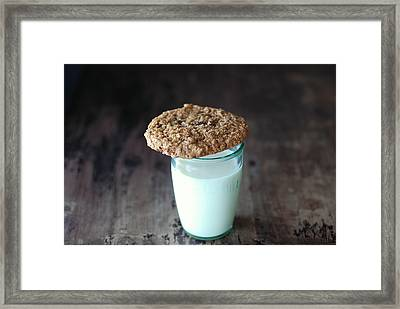 Glass Of Milk Framed Print by Shawna Lemay