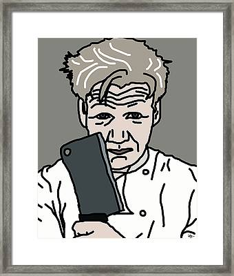 Gordon Ramsay Framed Print by Jera Sky