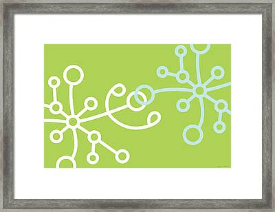 Green Net Framed Print by Nomi Elboim