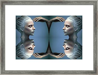 Heads As One Thought Framed Print by Jez C Self