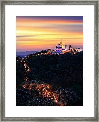 Heavenly Moutain Framed Print by Buchachon Petthanya