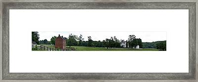 Historic Appomattox Panorama  Framed Print by Teresa Mucha