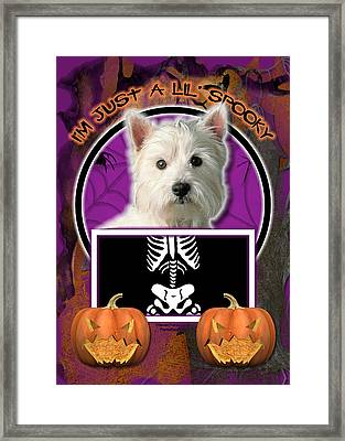 I'm Just A Lil' Spooky Westie Framed Print by Renae Laughner
