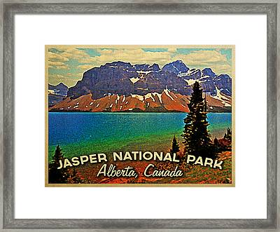 Jasper National Park Canada Framed Print by Flo Karp