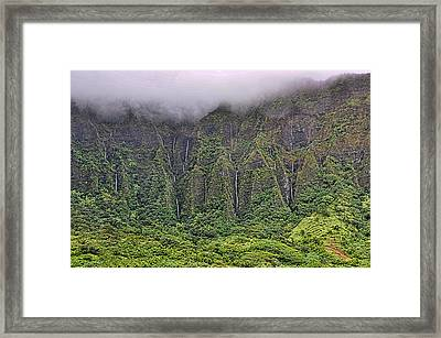 Ko'olau Waterfalls Framed Print by Dan McManus