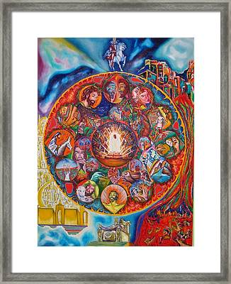 Life Of Christ Framed Print by Kennedy Paizs