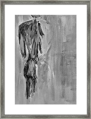 Male Nude 3 Framed Print by Julie Lueders