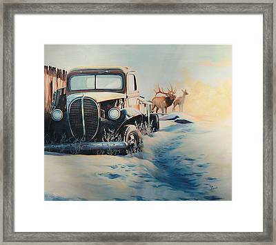 Morning Rays Framed Print by Ma Brown Robbins