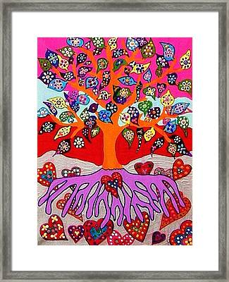 My Heart Flowers For You Framed Print by Sandra Silberzweig