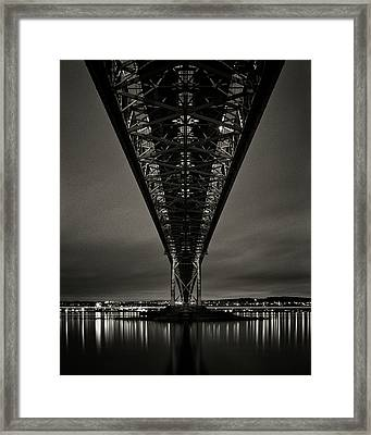 Night View Of Forth Road Bridge Framed Print by Mark Voce Photography