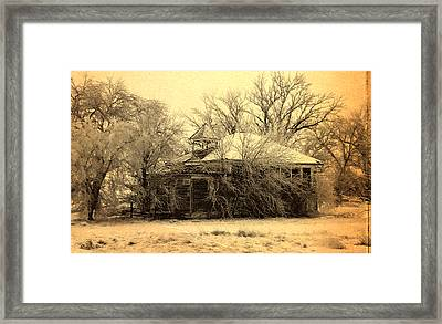 Old School House Framed Print by Julie Hamilton