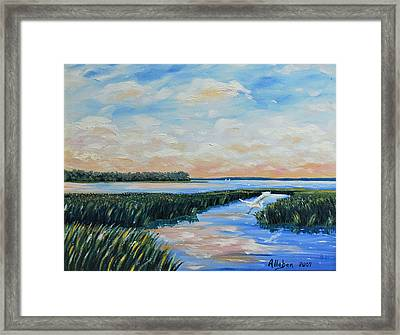 On The May River Framed Print by Stanton Allaben