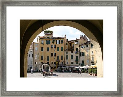 Piazza Antifeatro Lucca Framed Print by Mathew Lodge
