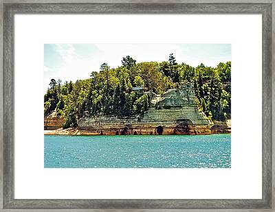 Pictured Rock 6323  Framed Print by Michael Peychich
