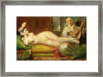 Reclining Odalisque Framed Print by Theodore Chasseriau