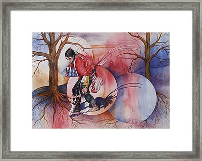 Red Dancer Framed Print by Patsy Sharpe