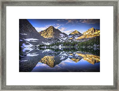Reflection Of Mountain In Lake Framed Print by RMB Images / Photography by Robert Bowman