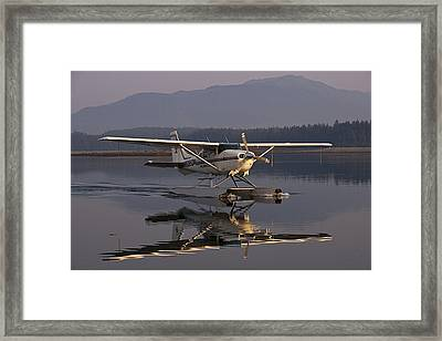 Reflections Of A Float Plane Framed Print by Darcy Michaelchuk