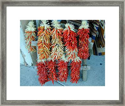 Ristras Number 2 Framed Print by Joseph R Luciano