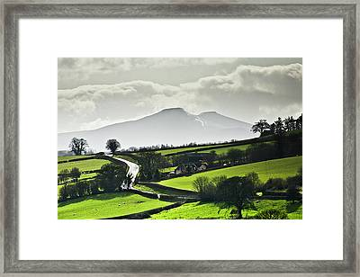 Road To Brecon Beacons Framed Print by Ginny Battson
