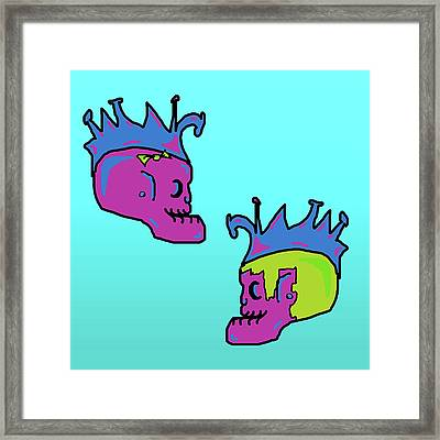 Rock God Heirs Framed Print by Jera Sky