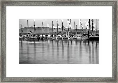 Sail Boats Framed Print by Leland D Howard
