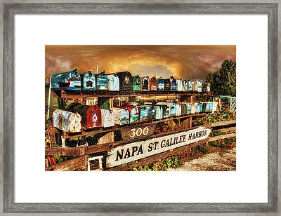 Sailors Mailbox Framed Print by Michael Cleere