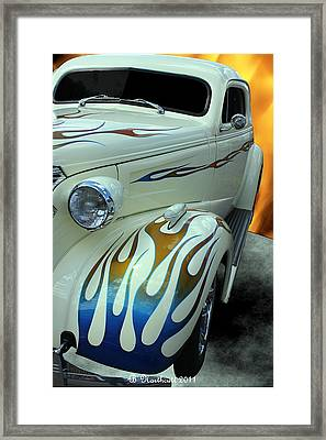 Smokin' Hot - 1938 Chevy Coupe Framed Print by Betty Northcutt