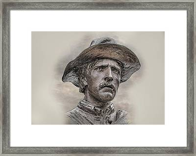 Son Of The Confederacy Portrait Framed Print by Randy Steele