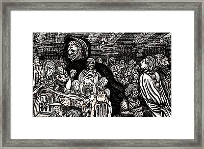 The Beast Leaves The Red Legged Hen Framed Print by Al Goldfarb