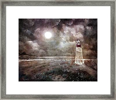 The Fading Memory Of Annabel Lee Framed Print by Laura Iverson
