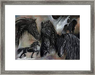 The Friesians In My Head Framed Print by Caroline Collinson