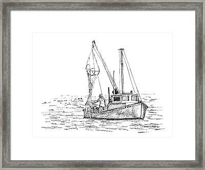 The Vessel Little Jim Framed Print by Dominic White