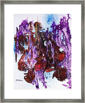 Through The Torn Curtain An Unusual Abstract In Acrylic Framed Print by Phil Albone