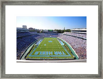 Unc Kenan Stadium Endzone View Framed Print by Replay Photos