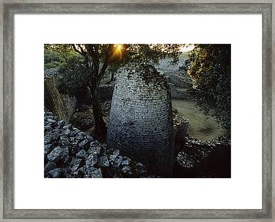 View Of The 8th Century Conical Tower Framed Print by James L. Stanfield