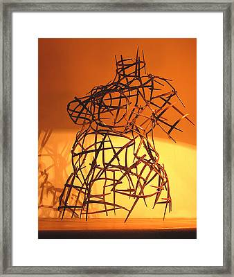 Welded Torso Framed Print by Tommy  Urbans