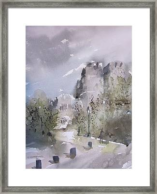 West Point Thayer Road Framed Print by Sandra Strohschein