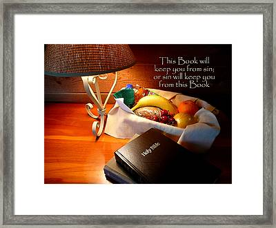 Word Of God Framed Print by Cindy Wright