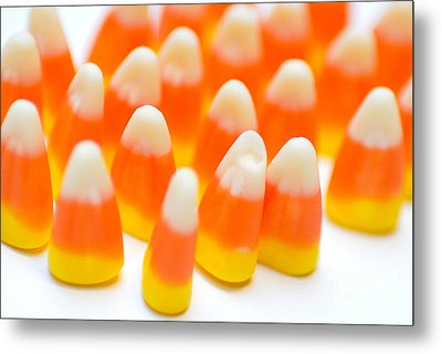 Candy Corn Army Metal Print by Amy Cicconi