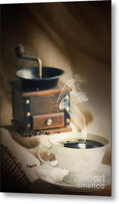 Cup Of Coffee Metal Print by Mythja  Photography