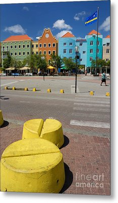 Curacaos Colorful Architecture Metal Print by Amy Cicconi