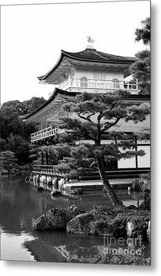 Golden Pagoda In Kyoto Japan Metal Print by David Smith