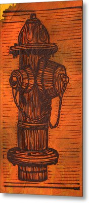 Hydrant Metal Print by William Cauthern