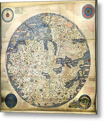 Old World Vintage Map Metal Print by Inspired Nature Photography Fine Art Photography