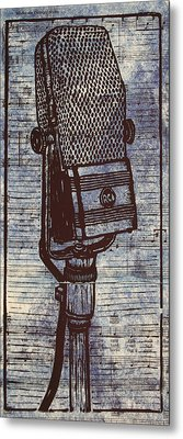 Rca 44 On Music Metal Print by William Cauthern