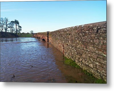 River Eden Flooding. Metal Print by Mark Williamson