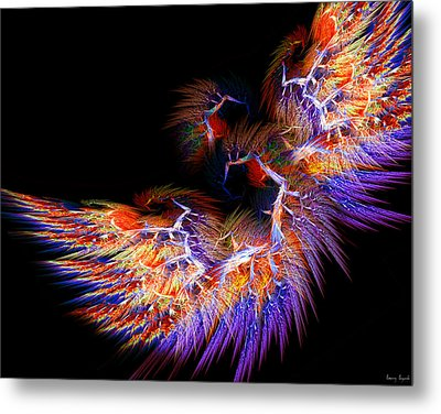 Symbol Of Fire Metal Print by Lourry Legarde