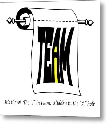 The I In Team Metal Print by Steve Harrington